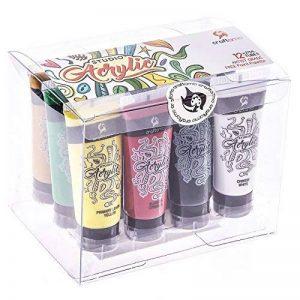 Kit de Tubes de Peinture Acrylique Craftamo 12 x 27ml. Kit de Peinture Acrylique Pour Utilisation Sur Toile, Comme Peinture de Tissu, Peinture de Modèles, Peinture de Verre, Peinture à l'Argile ou Pei de la marque Craftamo image 0 produit