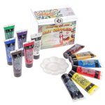 Kit de Tubes de Peinture Acrylique Craftamo 12 x 27ml. Kit de Peinture Acrylique Pour Utilisation Sur Toile, Comme Peinture de Tissu, Peinture de Modèles, Peinture de Verre, Peinture à l'Argile ou Pei de la marque Craftamo image 1 produit