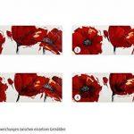 KunstLoft® tableau peinture sur toile à l'huile 'Coquelicot rouge feu' 90x30cm | tableau acrylique peint à la main | Toile sur cadre bois | Coquelicot fleurs rouge fond blanc de la marque KunstLoft image 3 produit