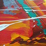 KunstLoft® tableau peinture sur toile à l'huile 'Confusion' 140x70cm | tableau acrylique peint à la main | Toile sur cadre bois | Abstrait Moderne Orange Gris de la marque KunstLoft image 4 produit