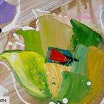 KunstLoft® tableau peinture sur toile à l'huile 'Rébellion de couleurs' 60x60cm | tableau acrylique peint à la main | Toile sur cadre bois | Tulipes fleurs multicolores de la marque KunstLoft image 1 produit