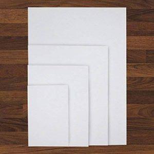 Kurtzy Ensemble de 4 Toile à Peindre - Châssis Entoilé pour Peinture - Cartons Entoilés Châssis en Bois - Toiles Tendues - Panneaux de Toile - Chassis Toile (70 x 49.5, 40 x 49.5, 30 x 40, 20 x 30) de la marque Kurtzy image 0 produit