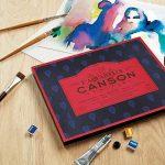 L'Aquarelle Canson Héritage Bloc collé 4 côtés 20 feuilles grain satiné 300 g 26 x 36 cm Blanc de la marque Canson image 4 produit