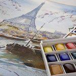 Lefranc Bourgeois 601660 Boîte de 12 Peintures aquarelles avec palette détachable de la marque Lefranc & Bourgeois image 1 produit