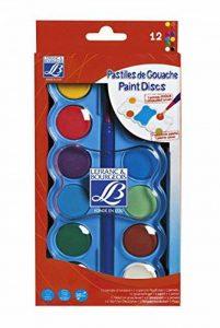 Lefranc & Bourgeois Boite de Gouache 12 Pastilles de 30mm + 1 Pinceau de la marque Lefranc & Bourgeois image 0 produit