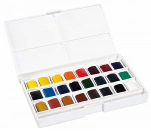 Lefranc Bourgeois - Boîte de 24 Peintures Aquarelles avec Palette Détachable de la marque Lefranc & Bourgeois image 0 produit