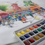 Lefranc Bourgeois - Boîte de 24 Peintures Aquarelles avec Palette Détachable de la marque Lefranc & Bourgeois image 2 produit