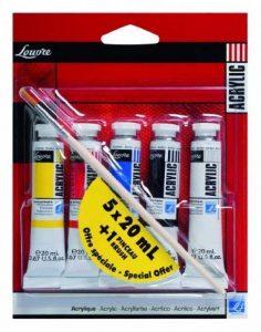 Lefranc Bourgeois Louvre Pack de 5 Tubes de Peintures acryliques 20 ml de la marque Lefranc & Bourgeois image 0 produit