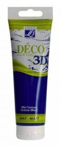 Lefranc Bourgeois Peinture Déco 3D mat 120 ml Bleu Marine de la marque Lefranc & Bourgeois image 0 produit
