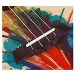 LINGZHIGAN Ukulele Petite Guitare Débutant Étudiant Adulte Enfants 34 Pouces Peinture Peinture (Couleur : A) de la marque Ukulélé image 3 produit