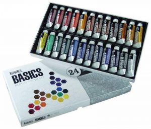 Liquitex Basics Pack de 24 Tubes de Peintures acryliques 22 ml Couleurs Assorties de la marque Liquitex image 0 produit