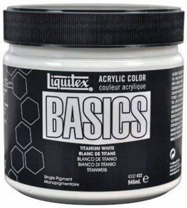 Liquitex Basics Pot de Peinture acrylique 946 ml Blanc de titane de la marque Liquitex image 0 produit
