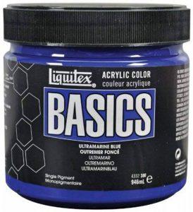 Liquitex Basics Pot de Peinture acrylique 946 ml Bleu outremer de la marque Liquitex image 0 produit