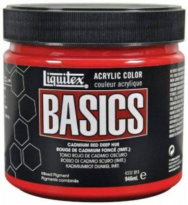 Liquitex Basics Pot de Peinture acrylique 946 ml Rouge de cadmium foncé Imitation de la marque Liquitex image 0 produit