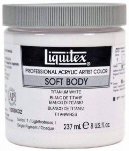 Liquitex Professional Soft Body Pot de Peinture acrylique fluide 237 ml Blanc de titane de la marque Liquitex image 0 produit