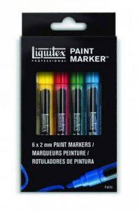Liquitex Set 6 Markers Pointe Fine de la marque Liquitex image 0 produit