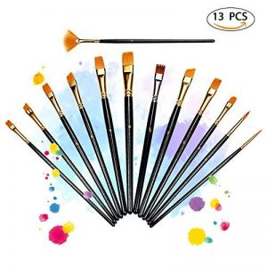 LiSmile 13 Pinceaux de Peinture Sets de Brosses pour Peinture à l'Huile, Aquarelle, Gouache, Acrylique de la marque LiSmile image 0 produit