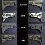 Lot de 2 Pochoirs - adhésif autocollant Camouflage pour peinture aérosol sur pistolets, fusils, modèles, automotos - armée et Digital Camo de la marque AcidTactical image 2 produit