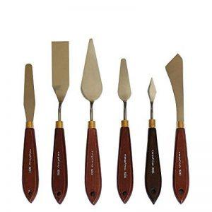 Lot de 6 couteaux à peindre, spatules Artiste Spatule pour huile et acrylique de la marque repino image 0 produit