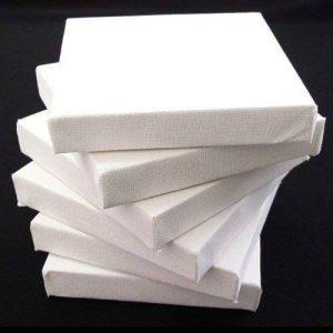 Lot de 6toiles à peindre sur châssis 10x10 cm de la marque CE Arts & Crafts image 0 produit