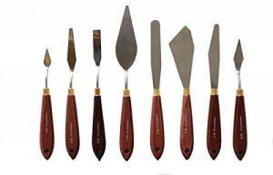 Lot de 8 couteaux à peindre, spatules Artiste Spatule pour huile et acrylique de la marque repino image 0 produit