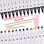 Luxbon Lot de 12 Double pointe Marqueur en tissu textiles Pigment Bien Permanent Graffiti Coloration Enfant sûr non toxique de la marque Luxbon image 2 produit