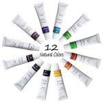 Magicdo 12 couleurs peintures en verre avec palette, peinture acrylique non-toxique de qualité pour le verre, ensemble de peinture en verre satiné multi-surface, pigment riche (12 x 12ml) de la marque Magicdo® image 1 produit
