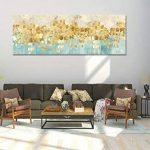 Maison Artwork Grande Taille Moderne Or Résumé Impressions Sur Toile Mur Art Turquoise Impressions Sur Toile Décoration Murale Toile Peinture Pour Salon Pas de cadre (50x150cm, MS006) de la marque Maison Artwork image 4 produit