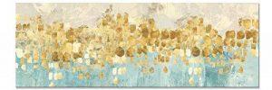 Maison Artwork Grande Taille Moderne Or Résumé Impressions Sur Toile Mur Art Turquoise Impressions Sur Toile Décoration Murale Toile Peinture Pour Salon Pas de cadre (60x180cm, MS006) de la marque Maison Artwork image 0 produit