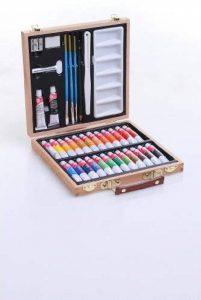 Mallette d'artiste en bois 35 pièces de la marque JJA image 0 produit
