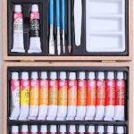 Mallette d'artiste en bois 35 pièces de la marque JJA image 1 produit