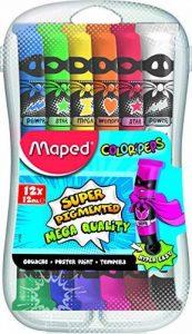 Maped 810520 Color'Peps Boîte Carton de 12 Tubes de Gouache de la marque Maped image 0 produit