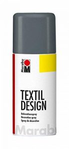 Marabu 150ml Tissu textile Spray Peinture Peut, EN MÉTAL, graphite, 5.8x 5.8x 15.7cm de la marque Marabu image 0 produit