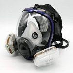 Masque de protection peinture et vernis 7 pièces équivalent Masque à gaz 6800 Masque de protection visage complet Masque respiratoire de la marque MBLUE image 1 produit