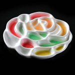 Meeden Ceramics Artiste Palette de peinture Rose conçu Plateau pour aquarelle, Gouache, acrylique et peinture à l'huile, 15,2cm de diamètre de la marque MEEDEN image 1 produit