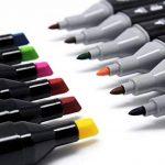 Meetory marqueurs à double pointe, 24pcs coloré Art Sketch Twin surligneurs, peinture de coloriage pour la mise en Évidence Soulignement Rendus de manga et motif de la marque Meetory image 2 produit