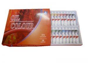 Memory Coffret peinture à l'huile pour artistes professionnels 24 couleurs en tubes aluminium de 12ml de la marque Memory image 0 produit