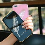 Miroir Coque pour iPhone 7/8 ,ETSUE iPhone 7/8 Effet or Miroir Housse Etui Technologie de Galvanoplastie Pliable TPU Souple Bumper Case Rose Or Slim Fit Clear View Mirror Cover Paillette Brillant Plaqué Métal Luxe Cristal Clair Coque en Miroir Elegant Coo image 4 produit