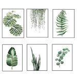 Moderne Aquarelle Feuille tropicale affiches Toile Plante verte florale Affiches d'art Mur de salon photo Décoration Intérieur Sans cadre de la marque Yunhigh image 3 produit