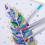 Mont Marte Set de Feutres Pinceaux - 24 Brush Pens - Idéal Marqueur Pinceau Aquarelle avec deux pointes pour la coloration adulte, lettrage à la main et la calligraphie - Parfait pour Débutants de la marque Mont Marte image 4 produit