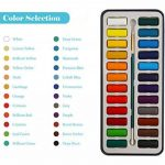 MozArt Supplies Set de peinture aquarelle – 24 couleurs lumineuses – léger et transportable – parfait pour les amateurs et les artistes professionnels – pinceau inclus de la marque MozArt Supplies image 2 produit