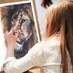 MozArt Supplies Set de peinture aquarelle – 24 couleurs lumineuses – léger et transportable – parfait pour les amateurs et les artistes professionnels – pinceau inclus de la marque MozArt Supplies image 3 produit