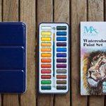 MozArt Supplies Set de peinture aquarelle – 24 couleurs lumineuses – léger et transportable – parfait pour les amateurs et les artistes professionnels – pinceau inclus de la marque MozArt Supplies image 4 produit