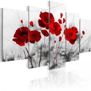 murando – Impression sur toile 100x50 cm - 5 pieces - Image sur toile - Images - Photo - Tableau - motif moderne - Décoration - tendu sur chassis - Fleurs 0107-5 de la marque BD XXL image 0 produit