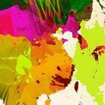 murando Impression sur toile 120x80 cm - Grand format - XXL - 3 couleurs au choix– 3 pieces - Image sur toile – Images – Photo – Tableau - motif moderne - Décoration - tendu sur chassis - carte du monde k-A-0006-b-f 120x80 cm de la mar image 6 produit