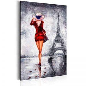 murando – Impression sur toile 40x60 cm - Grand format – 1 piece - Image sur toile - Images - Photo - Tableau - motif moderne - Décoration - tendu sur chassis – Poster Paris ville City femme - comme peint h-B-0062-b-a de la marque BD XXL image 0 produit