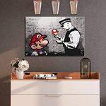 murando - Peinture par numéro 2.0 – Impression sur toile Banksy Singe de banane 60x40 cm – Kit de coloriage avec châssis en bois- DIY- Nouveauté – pour adultes et enfants ambitieux de plus de 12 ans – Idéal pour les peintres débutants n-A-0223-d-a de la m image 1 produit