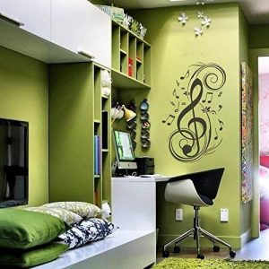 Music Notes Wall Decal Vinyl Music Wall Decal Music Note Wall Sticker Wall Mural Wall Graphic Room Art Decoration Black by WallsUp de la marque WallsUp image 0 produit
