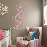 Music Notes Wall Decal Vinyl Music Wall Decal Music Note Wall Sticker Wall Mural Wall Graphic Room Art Decoration Black by WallsUp de la marque WallsUp image 1 produit