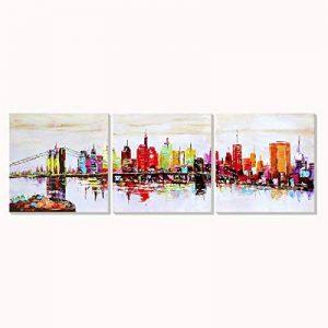 New York AONBAT Peintures de Toile Peintures à l'Huile de l'Art Abstrait Peintures de Paysages Peinture Acrylique à l'Huile Sur Toile à la Main Illustration Peinte Abstraite Toile de la marque AONBAT image 0 produit